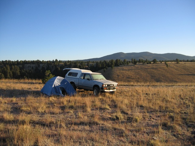 truck and tent camp